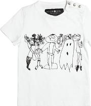 Monsters Printed Cotton Jersey T Shirt