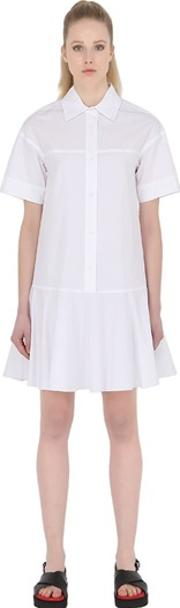 Short Sleeve Cotton Poplin Shirt Dress