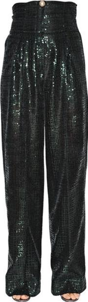 High Waist Sequined Trousers