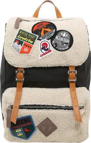 My Jolly Canvas Backpack W Patches