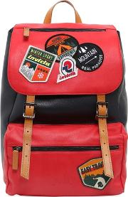 My Jolly Leather Backpack W Patches