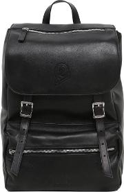 My Jolly Total Black Leather Backpack