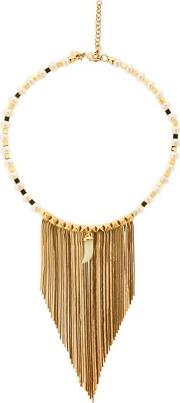 Fringed Pearl & Jade Necklace