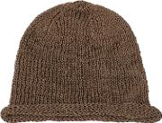 Coated Cotton Knit Beanie Hat
