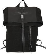 Linen Canvas & Leather Backpack