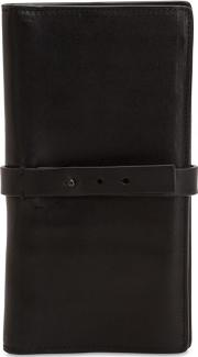 Smooth Leather Wallet With Strap
