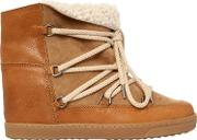 70mm Nowles Shearling Wedged