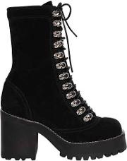 70mm Sequoia Lace Up Suede Boots