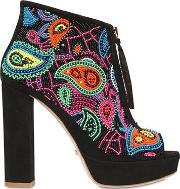 110mm Coco Embellished Suede Boots