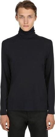 Cotton Long Sleeve Turtleneck T Shirt