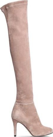 90mm Toni Suede Over The Knee Boots
