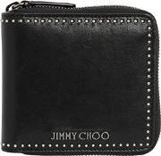 Micro Studded Leather Zip Around Wallet