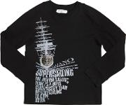 Boat Printed Cotton Jersey T Shirt