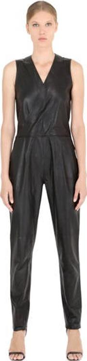 Sleeveless Nappa Leather Jumpsuit