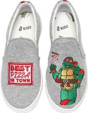 Raphael Ninja Turtle Slip On Sneakers