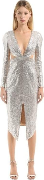 Embellished Dress With Cutouts