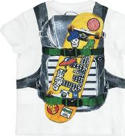Backpack Printed Cotton Jersey T Shirt