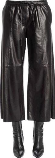 Flared & Cropped Leather Pants