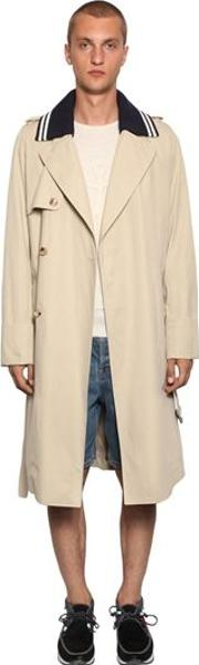 Lightweight Trench Coat W Rib Collar