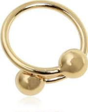 Double Ball Plated Brass Ring