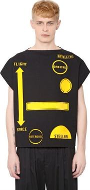 Patches Stretch Japanese Drill T Shirt