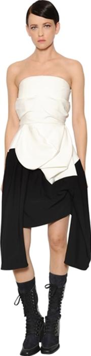 Stretch Crepe Bustier Dress