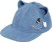 Choupette Cat Ears Denim Hat W Pins