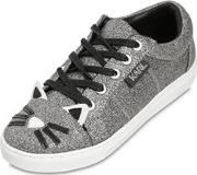 Choupette Glittered Leather Sneakers