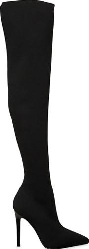 100mm Anabel Knit Over The Knee Boots