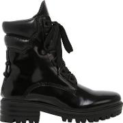 30mm East Polished Leather Combat Boots