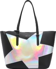 Izzy Star Textured Faux Leather Tote Bag