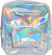 Iridescent Faux Leather Backpack
