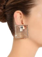 Square Plexi Clip On Earrings