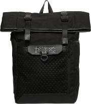 Backpack W Mesh & Leather Details