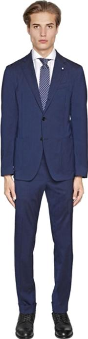 Easy Wear Stretch Wool Toile Suit