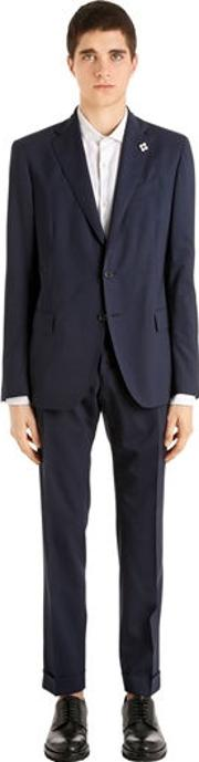 Water Repellent Stretch Wool Suit