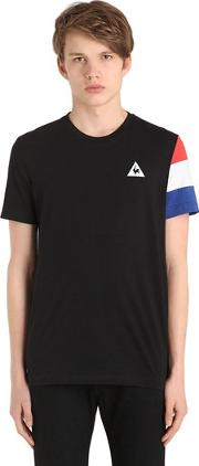 Tricolor Sleeve Cotton Jersey T Shirt