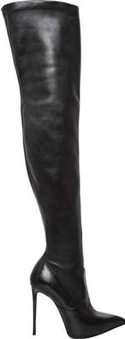 110mm Stretch Leather Boots