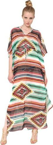 Printed Techno Jersey Cover Up  Dress
