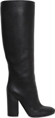 100mm Grained Leather Boots