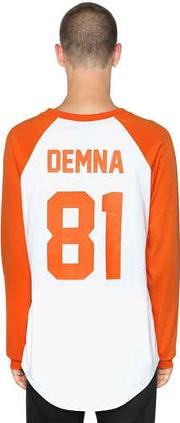 Demna Printed Cotton Jersey T Shirt