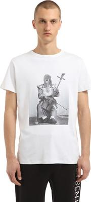 Kurt Cobain Printed Cotton T Shirt
