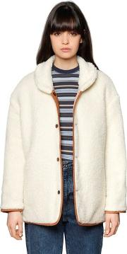 Quilted & Faux Shearling Jacket