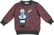 Hockey Player Tricot Cotton Sweater