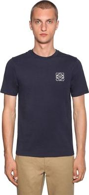 Anagram Embroidery Cotton Jersey T Shirt