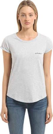 Amour Embroidered Jersey T Shirt