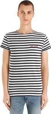 The Dude Striped Cotton Jersey T Shirt