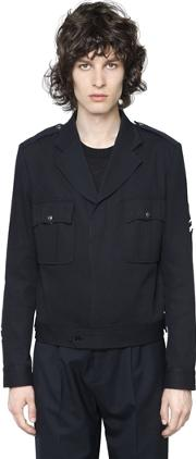 Cotton Cavalry Military Style Jacket