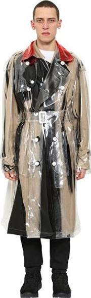 Double Breasted Pvc Trench Coat