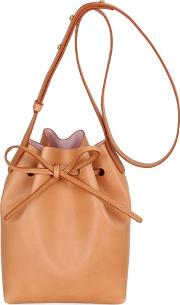 Mini Vegetable Tanned Leather Bucket Bag